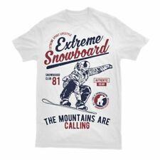 Snowboard T Shirt Ski Skiing Gift Birthday Snow Powder Monkeez Breast   S-3XL