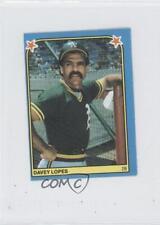 1983 Fleer Baseball Album Stickers Separated #188 Davey Lopes Oakland Athletics