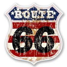2 x Route 66 Vinyl Sticker Laptop Travel Luggage Car #6031