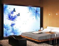 Blue Soft Butterfly 3D Full Wall Mural Photo Wallpaper Printing Home Kids Decor