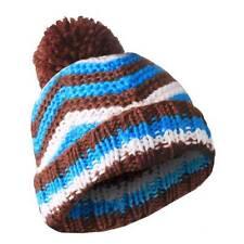 Masterdis KMA Pompom Zig Zag Beanie 8 Colours Beany Hat Wool Wolle Wollmütze