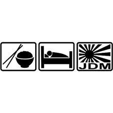 Eat Sleep JDM Funny Sticker Decal