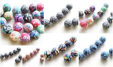 Fimo Perlen Polymer Clay Beads verschiedene Motive 12mm 10 Stück SERAJOSY
