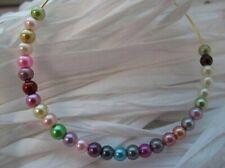 30 pièces paquet perlescent sphère perles de rocailles 4mm 28 choix de couleurs