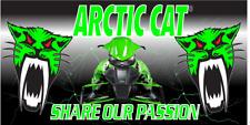 Arctic Cat Snowmobiles Full Color Custom Vinyl Banner Garage Man Cave Dealership