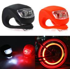 2X Bike Bicycle Cycling Light Fog Silicone Safety Warning Tail Flashing Light i