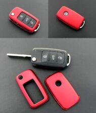 Für VW SEAT SKODA Klapp Schlüssel Cover Key Cover Schlüssel Fernbedienung Rot