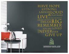 Ha una speranza Ispiratore Muro Adesivo Citazione ARTE Decalcomania-PD223