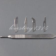 Dental Surgical Scalpel Sterilized Blades Carbon Steel 10#/11#/12#/15#+ Handle