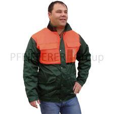 Schnittschutz-Jacke Klasse 1 Größe S-XXL Forstjacke Waldjacke grün-orange