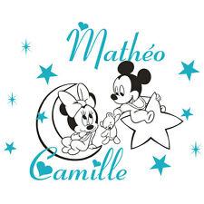 * 1 Sticker pour Jumeaux  -  Fille / Garçon -- Bébés Mickey et Minnie