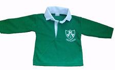 IRELAND IRISH RUGBY SHIRT BABY BABIES KIDS CHILDS  3 months to 14 year NEW RETRO
