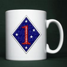 1st Marine Division, USMC - Personalised Mug / Cup