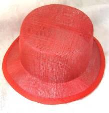 red sinamay mini top hat fascinator millinery base