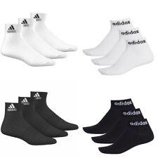 QUARTER SOCKS - adidas ANKLE SOCK WHITE - 3 6 PACK MENS LADIES KIDS CHEAP