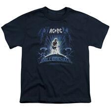 ACDC Ballbreaker Big Boys Youth Shirt NAVY