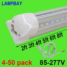 LED Tube Lights V shaped 2ft 3ft 4ft 5ft 6ft 8ft Bar Lamp T8 Integrated Fixture