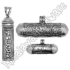 Silver Ghau Pendant: .925 sterling Buddhist gau box mantra amulet prayer Tibetan