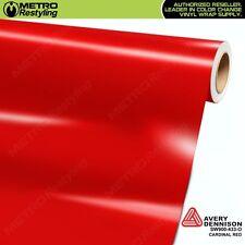 Avery Supreme GLOSS CARDINAL RED Vinyl Vehicle Car Wrap Film Roll SW900-433-O