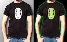 kaonashi mask Ghibli Mononoke Totoro Glow In The Dark T-Shirt Mens Black