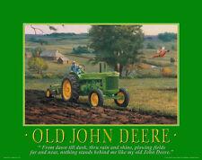 John Deere Tractor Motivational Poster Art Pedal Toys Advertising Signs MVP106