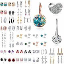 Women Crystal Rhinestone Dangle Drop Ear Stud Wedding Fashion Earrings Fashion