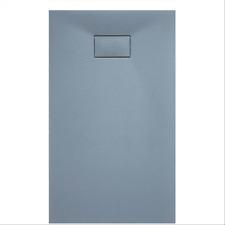 Piatto doccia in acrilico riducibile grigio cemento ribassato effetto pietra
