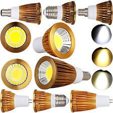 E12 MR16 GU10 E27 E14 B22 B15 High Power COB LED Spotlight Bulbs 9W 12W 15W