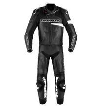 Tuta Suit Traje Anzug pelle RACE WARRIOR TOURING PERF SPIDI NeroBianco UOMO moto