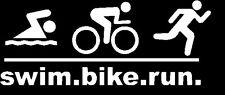 Swim Bike Run Triathlon Vinyl Decal Sticker Car Window iPad I Tri Ironman