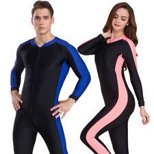 Womens Mens Anti-Uv Diving Suit One-Piece Swim Sunscreen Wetsuit Surf Snorkeling