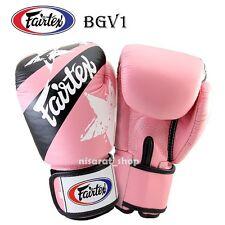 FAIRTEX BOXING GLOVES NATION PRINT BGV1 PINK  8,10,12,14,16 OZ.MUAY THAI  MMA K1