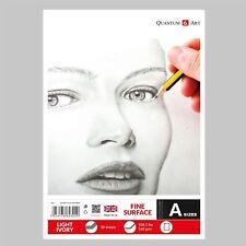 160GSM BLOCCO DA DISEGNO LISCIO AVORIO LEGGERO ARTISTA CARTA GOMMATA LIBRO