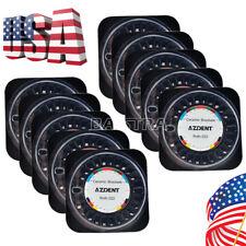 Azdent Dental Ortho Roth.022 5*5 3 4 5 Hook Ceramic Bracket Braces Mesh Base US