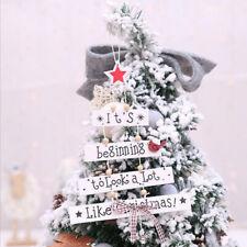 Christmas Tree Shabby Chic Wooden Scrabble Letters Festive Xmas Hanging LA