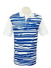 """Men's White Short Sleeve Golf Polo """"Blue Horizon"""""""