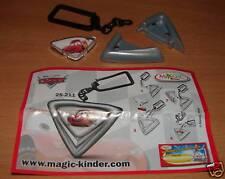 KINDER 2S-211 DISNEY CARS PORTE CLEFS VARIANTE + BPZ