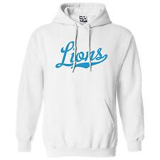 Lions Script & Tail HOODIE - Hooded School Sports Team Sweatshirt - All Colors