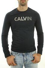 T shirt Calvin klein homme manche longue S M L XL noir ou blanc CMP12R
