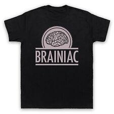 Brainiac Hipster Retro Eslogan inteligente inteligente Cool Hombre Mujer Niños Camiseta