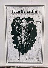 '87 DEATHREALM Fanzine #1-Mark Rainey/Vampire Hunter D