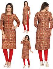 Reino Unido stock-mujeres moda india Kurti Kurta Top Camisa Vestido Túnica SC2503
