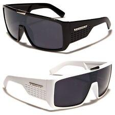 333efc83996 Biohazard Goggle Style Mens Designer Sunglasses Metal Detail on Center