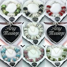 Personalised Jewellery ENGRAVED Bracelet Womens Girls Birthday Christmas Gifts