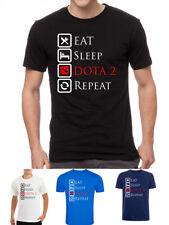 Dota 2 mmo game gamer eat sleep repeat symbol logo t-shirt