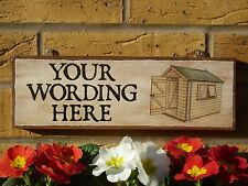 Personalizzata da giardino per firmare scegli nome univoco OFFICINA SEGNO REGALO