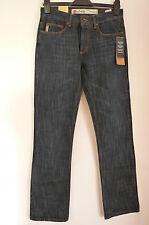 """4YOU Azul Oscuro cierre de botones Largo Pierna Pantalones Vaqueros ret £ 55 BNWT 28"""" y 29""""/L34"""