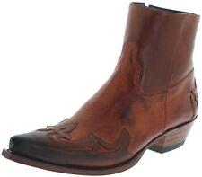 Sendra Boots 14379 SAMUEL Tang Papaya Westernstiefelette für Herren Braun
