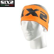 Fascia Paraorecchie Carbon Underwear X MIX Bici Moto SIXS ORANGE FLUO Italy FSX
