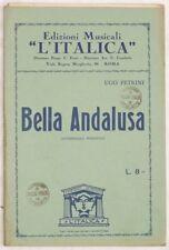 1930 UGO PETRINI BELLA ANDALUSA SPARTITI ORCHESTRA